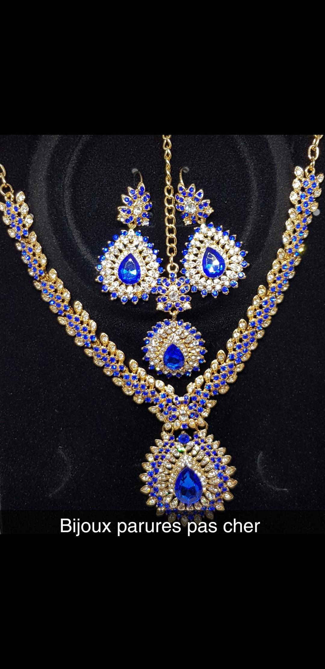 Parure dorée Bleue roi c0388b524f90